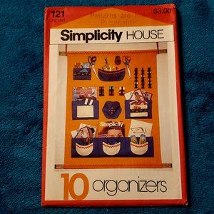 Simplicity 10 ORGANIZERS sewing, nursery, travel